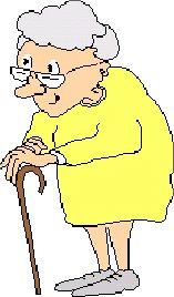 gammel mand med en stok Dybvad black woman
