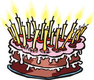 clipart fødselsdag lagkage