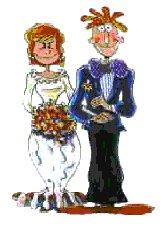 sjove bryllupstegninger