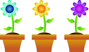 Free Clip Art Flowers In Pots 57